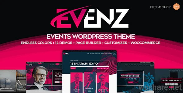 Evenz 1.2.8 – Conference and Event WordPress Theme