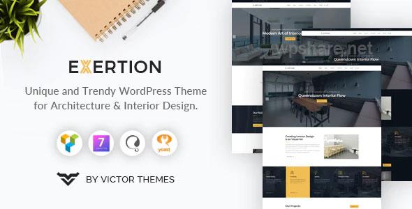 Exertion 1.4 – Architecture & Interior Design WordPress Theme