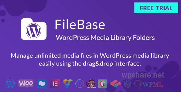 FileBase 1.4.2 – WordPress Media Library Folders