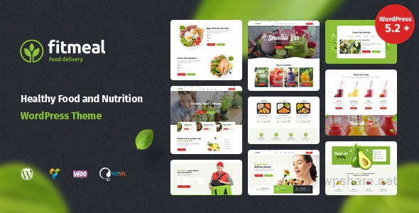 Fitmeal 1.2.5 – Organic Food Delivery and Healthy Nutrition WordPress Theme