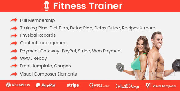 Fitness Trainer v1.5.5 – Training Membership Plugin