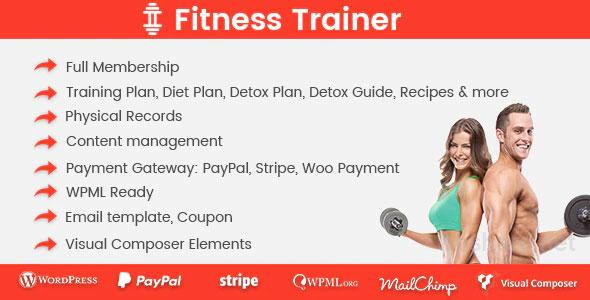 Fitness Trainer 1.5.8 – Training Membership Plugin