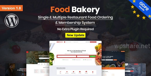 FoodBakery 2.1 – Food Delivery Restaurant Directory WordPress Theme