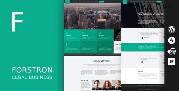 Forstron 1.9.5 – Legal Business WordPress Theme