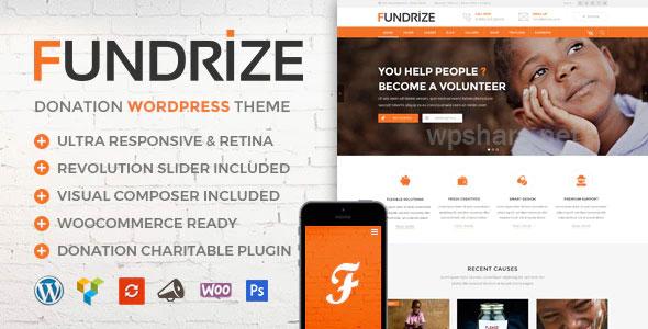 Fundrize v1.15 – Responsive Donation & Charity WordPress Theme