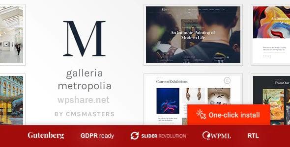 Galleria Metropolia 1.1.2 – Art Museum & Exhibition Gallery Theme