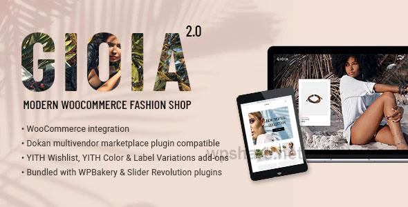Gioia 2.1 – Modern Fashion Shop