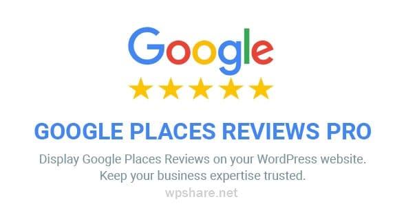 Google Places Reviews Pro 2.4.1 – WordPress Plugin