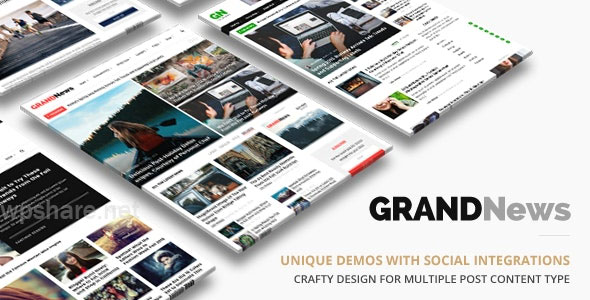 Grand News | Magazine Newspaper WordPress v3.4