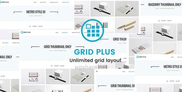 Grid Plus 3.2 – Unlimited Grid Layout WordPress Plugin