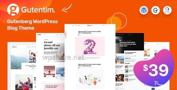 Gutentim 1.5 – Modern Gutenberg WordPress Blog Theme
