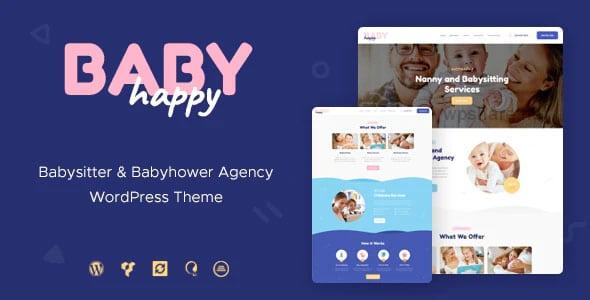 Happy Baby 1.2.2 – Nanny & Babysitting Services Children WordPress Theme