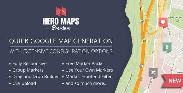 Hero Maps Premium 2.3.0 – Responsive Google Maps Plugin