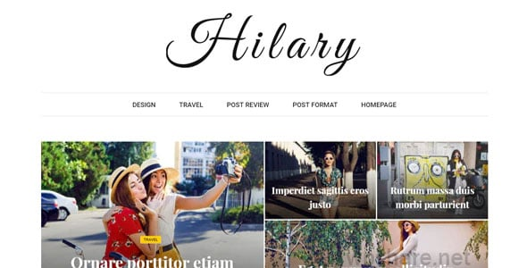 Hilary 1.2 – Fast – Clean – Flexible WordPress Magazine News Blog Theme