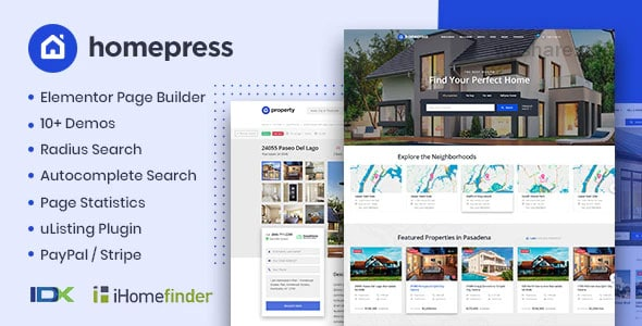 HomePress 1.3.2 – Real Estate WordPress Theme