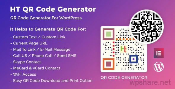 HT QR Code Generator for WordPress v2.0