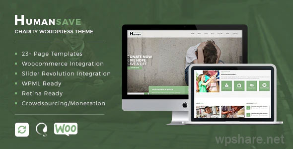 Humansave 1.0.0 – Responsive Nonprofit Charity WordPress Theme