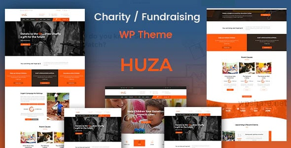 Huza 1.19 – Charity Responsive WordPress Theme