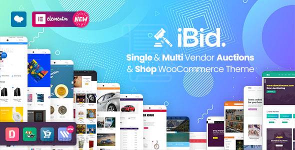 iBid 2.8 – Multi Vendor Auctions WooCommerce Theme