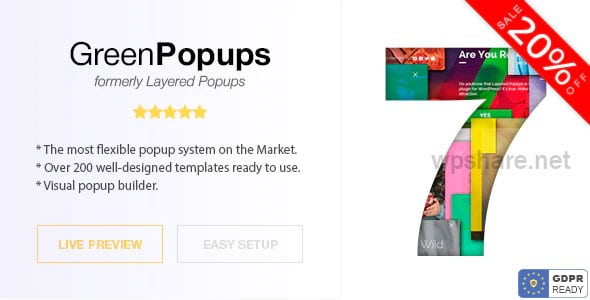 Green Popups 7.23 – Popup Plugin for WordPress