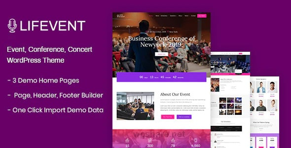 Lifevent 1.0.7 – Event WordPress Theme