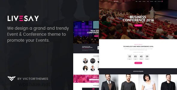 Livesay 1.9 – Event & Conference WordPress Theme