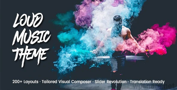 Loud 2.0.5 – A Modern WordPress Theme for the Music Industry
