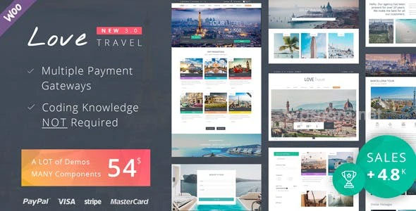 Love Travel 4.0 – WordPress Theme