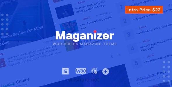 Maganizer 1.2.2 – Modern Magazine WordPress Theme