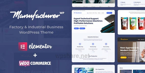 Manufacturer – Factory and Industrial WordPress Theme v1.3.3