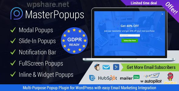 Master Popups 3.6.5 – Popup Plugin for WordPress