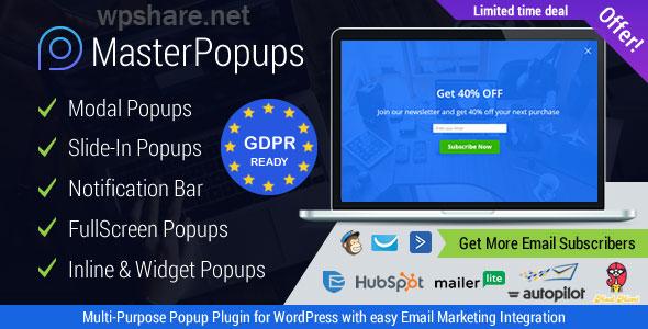Master Popups 3.7.5 – Popup Plugin for WordPress