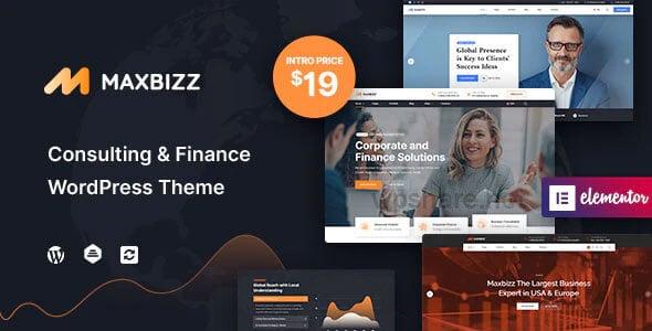 Maxbizz 1.0 – Consulting & Financial Elementor WordPress Theme