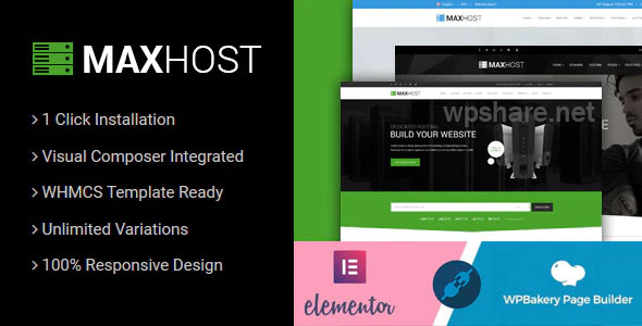 MaxHost 7.4 – Web Hosting, WHMCS and Corporate Business WordPress Theme with WooCommerce