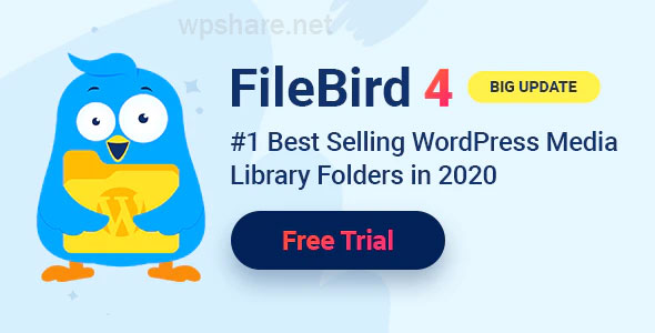 FileBird v4.4 – WordPress Media Library Folders