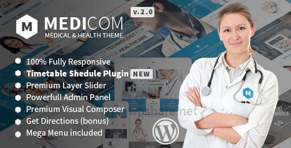 Medicom 3.0.9 – Medical & Health WordPress Theme