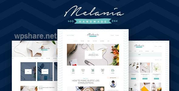 Melania v1.5.3 – Handmade Blog & Crafts Shop Aristic WordPress Theme
