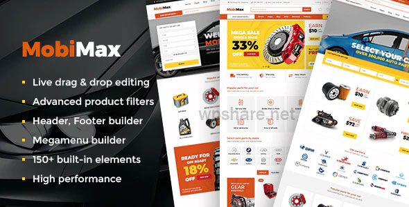 Mobimax 4.1 – Auto Parts WordPress Theme + WooCommerce Shop