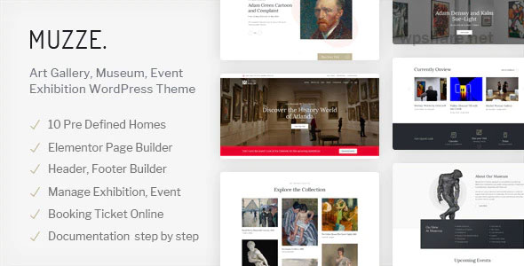 Muzze 1.3.0 – Museum Art Gallery Exhibition WordPress Theme
