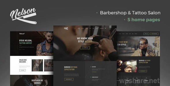 Nelson 1.2.0 – Barbershop Hairdresser & Tattoo Salon WordPress Theme