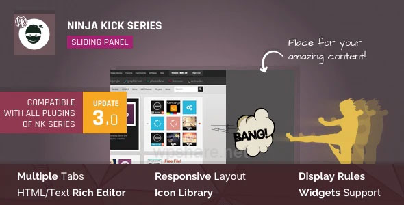 WordPress Off-Canvas Sliding Panel — Ninja Kick v3.0.16