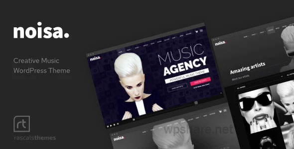 Noisa 2.5.6 – Music Producers, Bands & Events Theme for WordPress