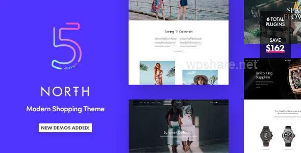 North 5.7.0 – Responsive WooCommerce Theme