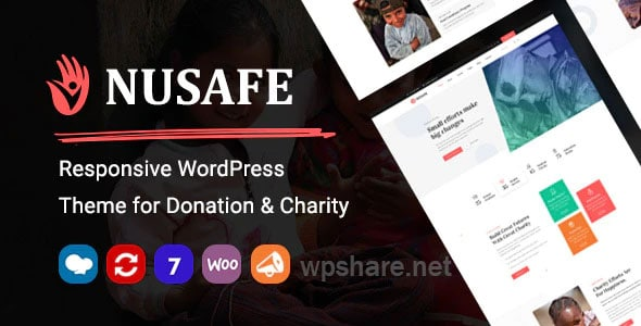 Nusafe 1.7 – Responsive WordPress Theme for Donation & Charity