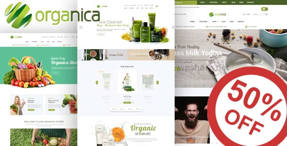 Organica 1.5.6 – Organic, Beauty, Natural Cosmetics, Food, Farn and Eco WordPress Theme