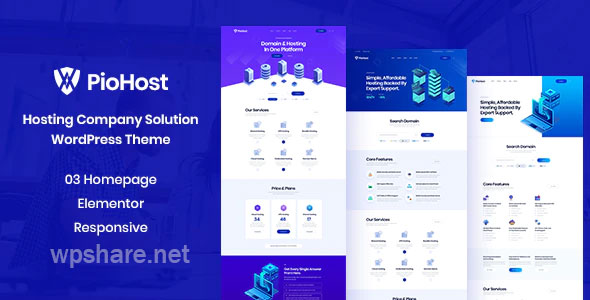 Piohost – Domain and Web Hosting WordPress Theme