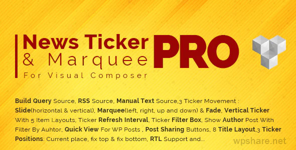 Pro News Ticker & Marquee for WPBakery Page Builder 1.3.3