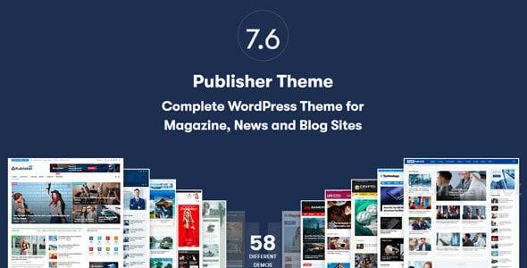 Publisher Pro 7.9.0 – Newspaper and Magazine WordPress Theme