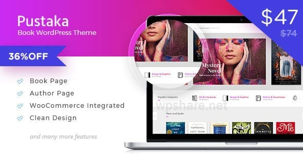 Pustaka v2.11.13 – WooCommerce Theme For Book Store