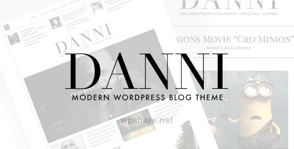 Danni 1.0.2 – Minimalist WordPress Blog Theme
